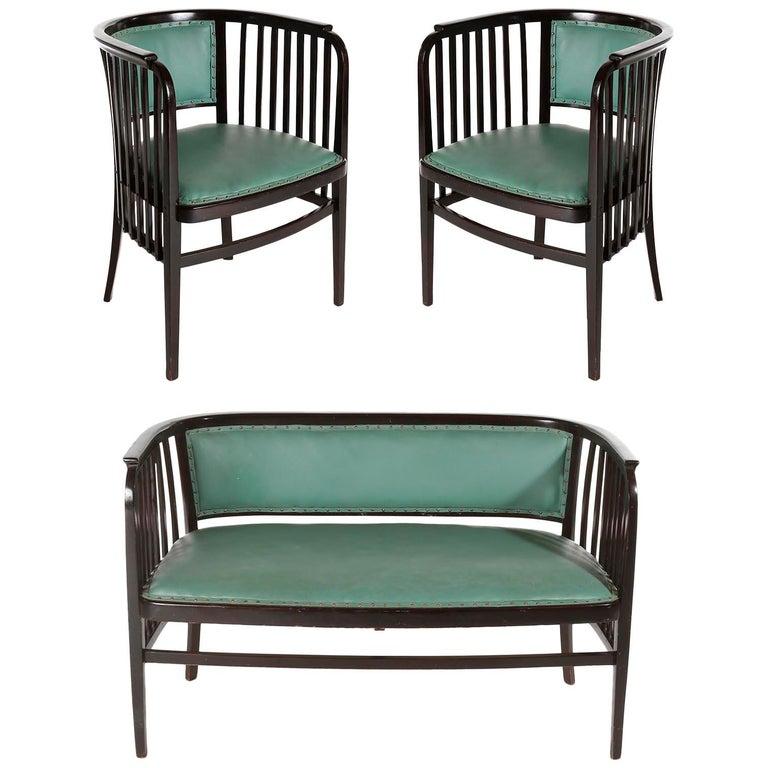 Living Room Suites For Sale: Marcel Kammerer Seating Set Salon Suite, Thonet, Turquoise