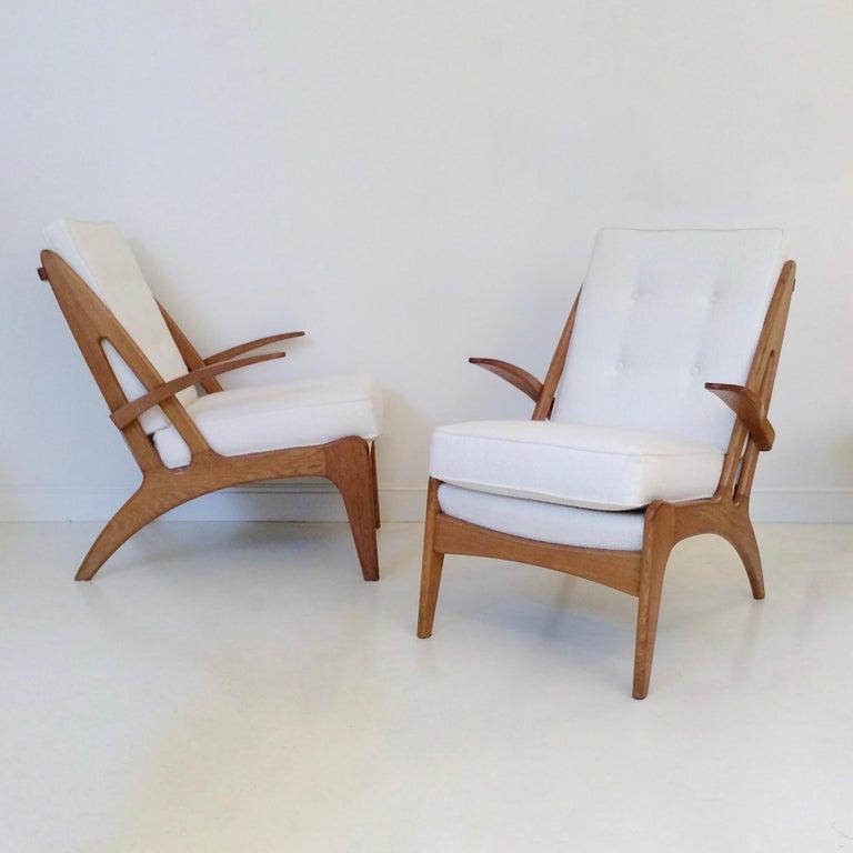 Marcel Louis Baugniet zugeschrieben paar Sessel, um 1950, Belgien 10