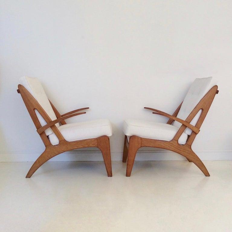 Marcel Louis Baugniet zugeschrieben paar Sessel, um 1950, Belgien 2