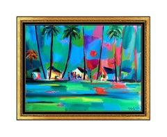 Marcel Mouly Acrylic Painting on Canvas Original Landscape Signed Framed Artwork