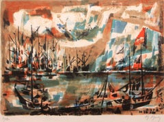 """""""Early Harbor"""" Limited Edition Lithograph (70/80) Pencil-signed by Artist"""