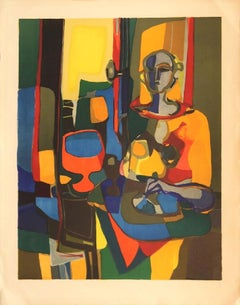 """""""Femme"""" by Marcel Mouly-Signed and Numbered, Limited Edition Lithograph"""