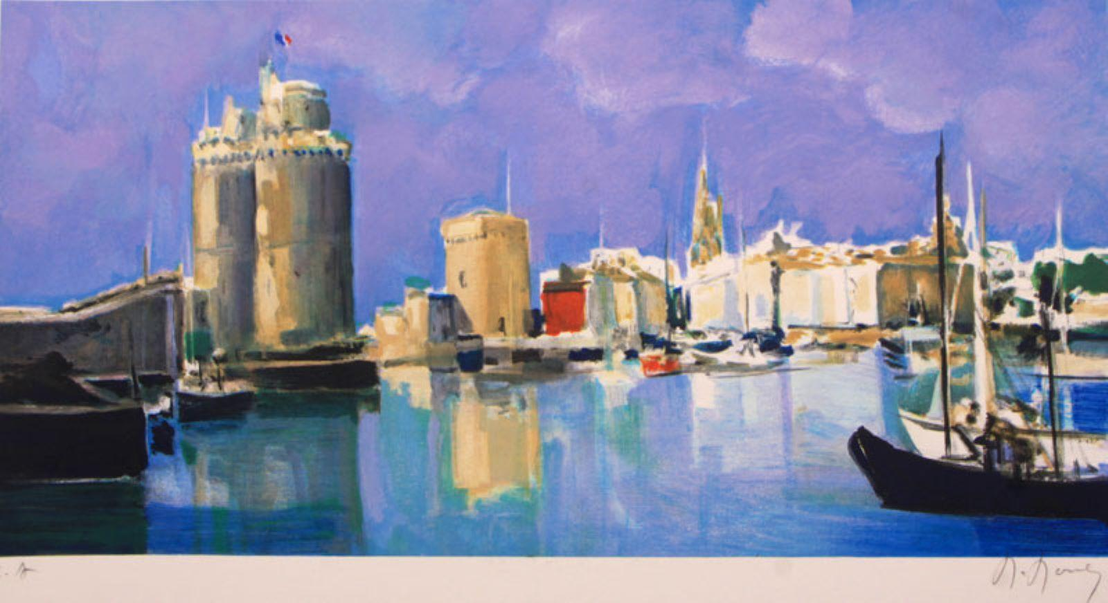 """Le Port de la Rochelle"" Limited Edition Lithograph, Pencil-signed by the Artist"