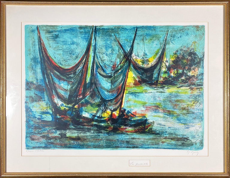 Les Grandes Voiles (The Grand Sails) - Print by Marcel Mouly