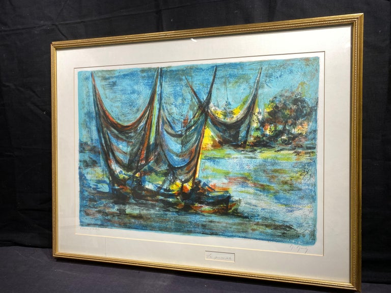 Les Grandes Voiles (The Grand Sails) - Modern Print by Marcel Mouly