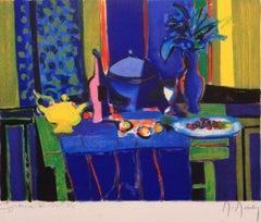 """""""Surprise Bleue et Vase Bleue"""" Lithograph, pencil-signed by the artist"""