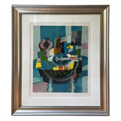 """Marcel Mouly Signed and Numbered Lithograph """"Les Mandolin's en Bleus"""""""