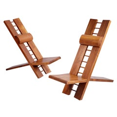 """Marcel Ramond, Pair of """"Africa"""" Armchairs, France, 1970"""