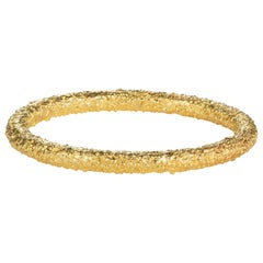 Twigs Textured Band 18 Karat Yellow Gold