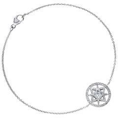 Marcel Salloum Yasmin Diamond Set Halo Bracelet Platinum