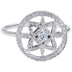 Yasmin Diamond Set Halo Ring Platinum