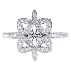 Yasmin Flower of Life Diamond Ring in 18 Karat Gold
