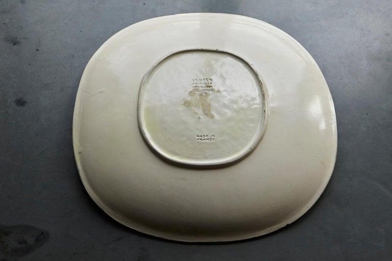 Marcel Vertès Ceramic Plate Tete De Femme, Signed, Edit 8/100, Vallauris, 1950s For Sale 4