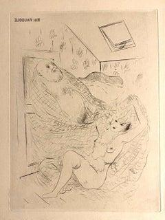 Roi Pausole - Original Etching by Marcel Vertès - 1930s
