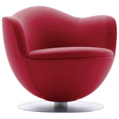 Marcel Wanders Dalia Armchair in Red Hero with Fabric for Cappellini