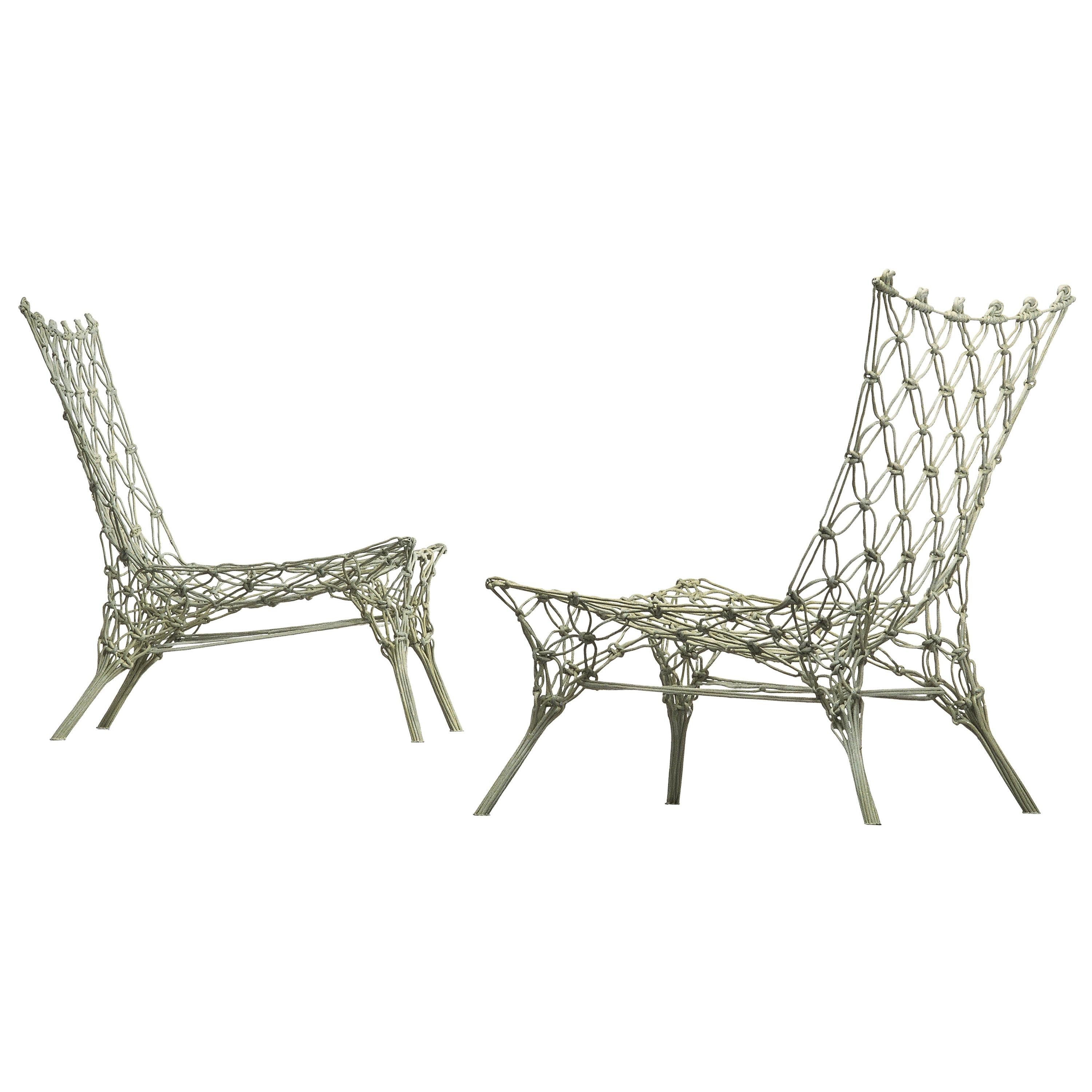Marcel Wanders Knotted Armchair in Carbon with Aramid Fiber Cord for Cappellini