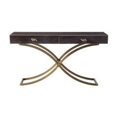 Marcella Console Table with Drawers with Metal Base by Roberto Cavalli