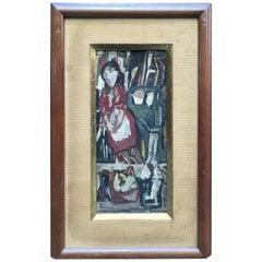 Marcello Boccacci Natura Morta '1914-1996' Still Life with Woman Painting