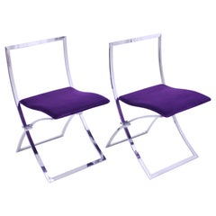 Marcello Cuneo, Pair of Luisa Chairs for Mobel Italia, 1970s