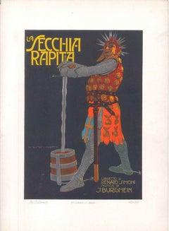 La Secchia Rapita - Original Advertising Lithograph by Marcello Dudovich - 1910s
