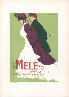 Mele - Original Advertising Lithograph by Marcello Dudovich - 1910s