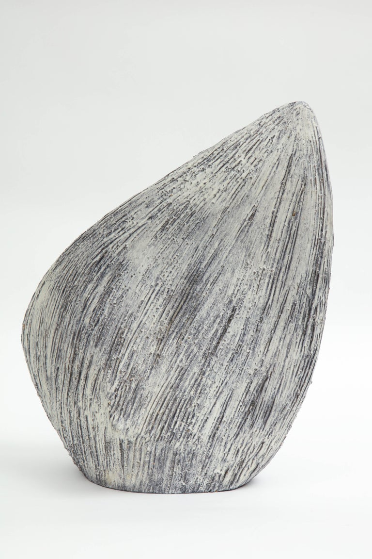 Italian Marcello Fantoni Abstract Ceramic Sculpture, 1962 For Sale