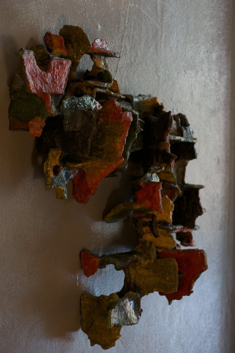 Marcello Fantoni, Abstract, Ceramic Wall Sculpture, Italy, Late 1970s For Sale 1