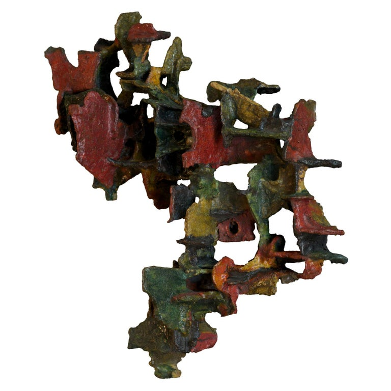 Marcello Fantoni, Abstract, Ceramic Wall Sculpture, Italy, Late 1970s For Sale