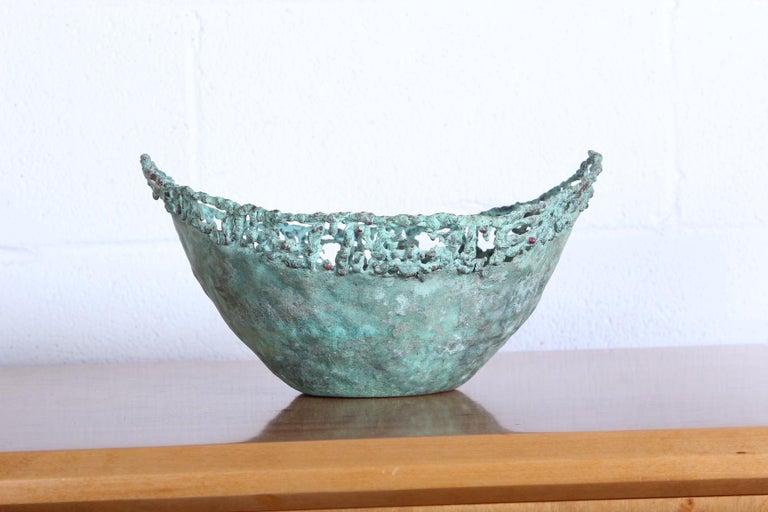Marcello Fantoni Bronze Bowl In Good Condition For Sale In Dallas, TX