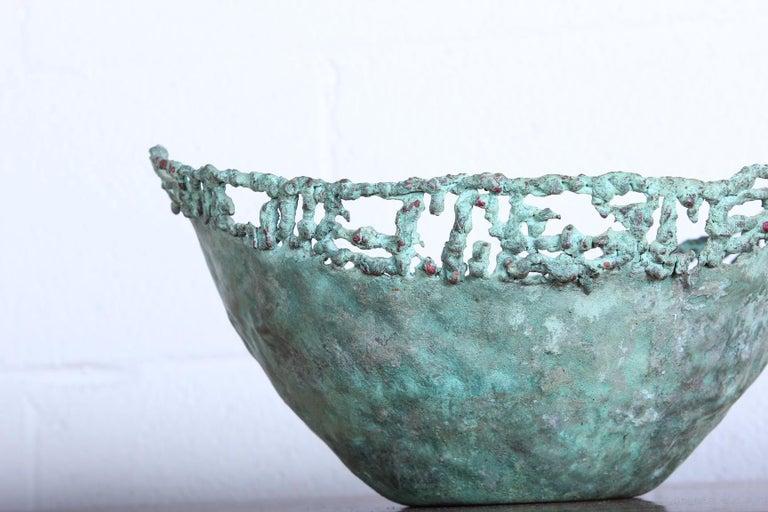 Mid-20th Century Marcello Fantoni Bronze Bowl For Sale