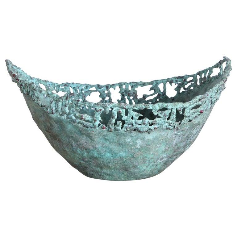Marcello Fantoni Bronze Bowl For Sale