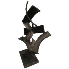 Marcello Fantoni Brutalist Torch Cut Sculpture