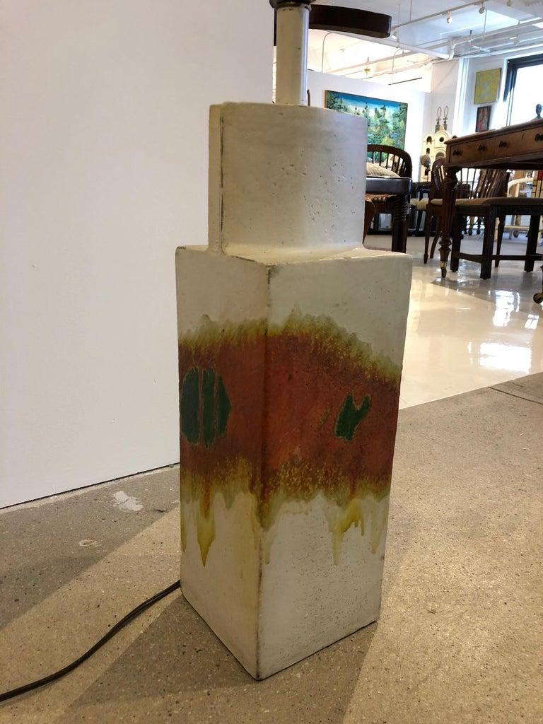 Mid-Century Modern Marcello Fantoni Ceramic Table Lamp For Sale