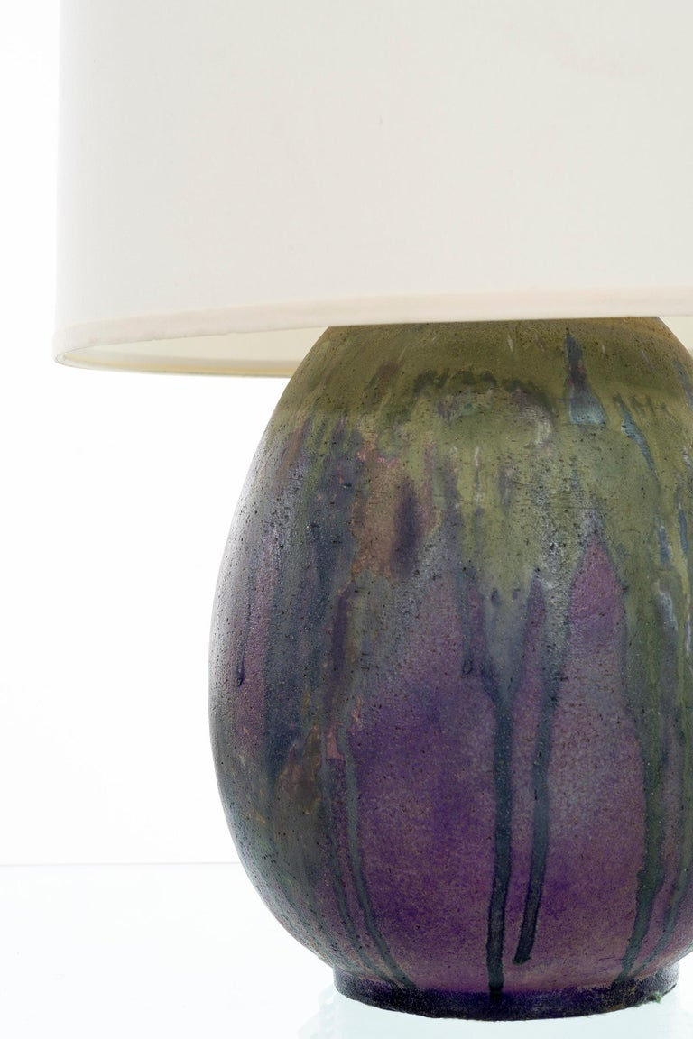 Italian Marcello Fantoni Ceramic Table Lamp For Sale
