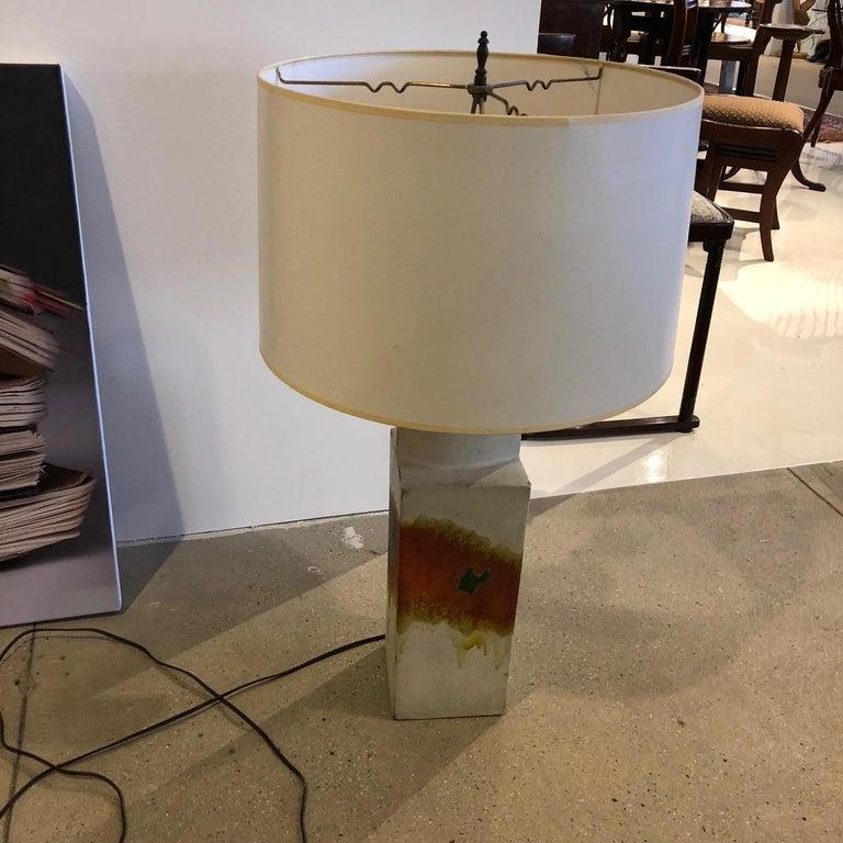 Marcello Fantoni Ceramic Table Lamp In Good Condition For Sale In New York, NY