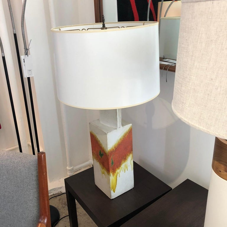 Mid-20th Century Marcello Fantoni Ceramic Table Lamp For Sale