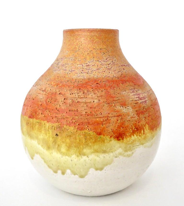 Italian Marcello Fantoni Ceramic Vessel or Vase For Sale