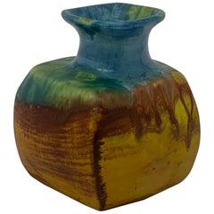 Marcello Fantoni Drip Glaze Pillow Vase