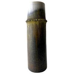 Marcello Fantoni for Raymor Italian Modernist Ceramic Bamboo Vase