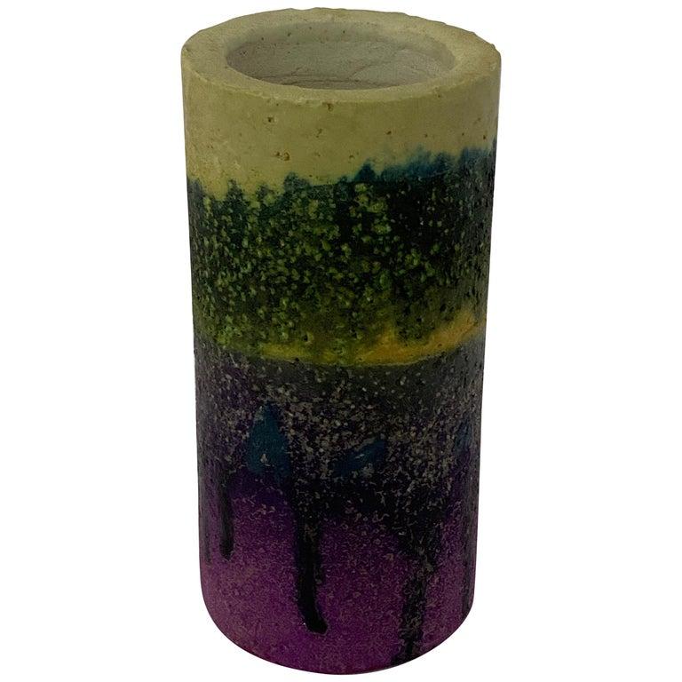 Marcello Fantoni for Raymor Lava Glaze Vase For Sale