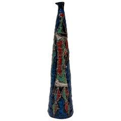 """Marcello Fantoni Midcentury Italian """"Warrior"""" Ceramic Vase"""