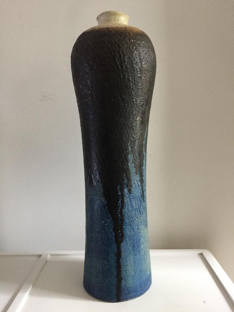 Italian Marcello Fantoni Monumental Ceramic Vase For Sale
