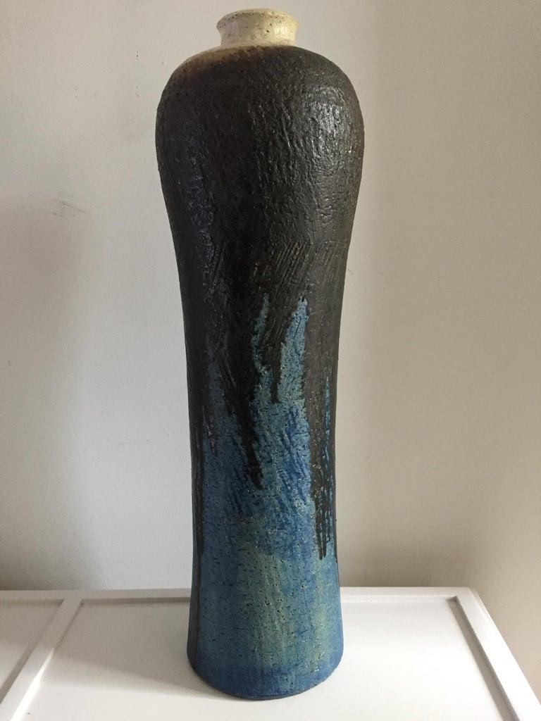 Glazed Marcello Fantoni Monumental Ceramic Vase For Sale