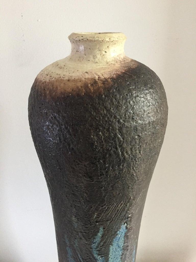 Marcello Fantoni Monumental Ceramic Vase In Excellent Condition For Sale In Westport, CT