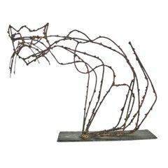 Marcello Fantoni Pussycat Brutalist Sculpture 1950s