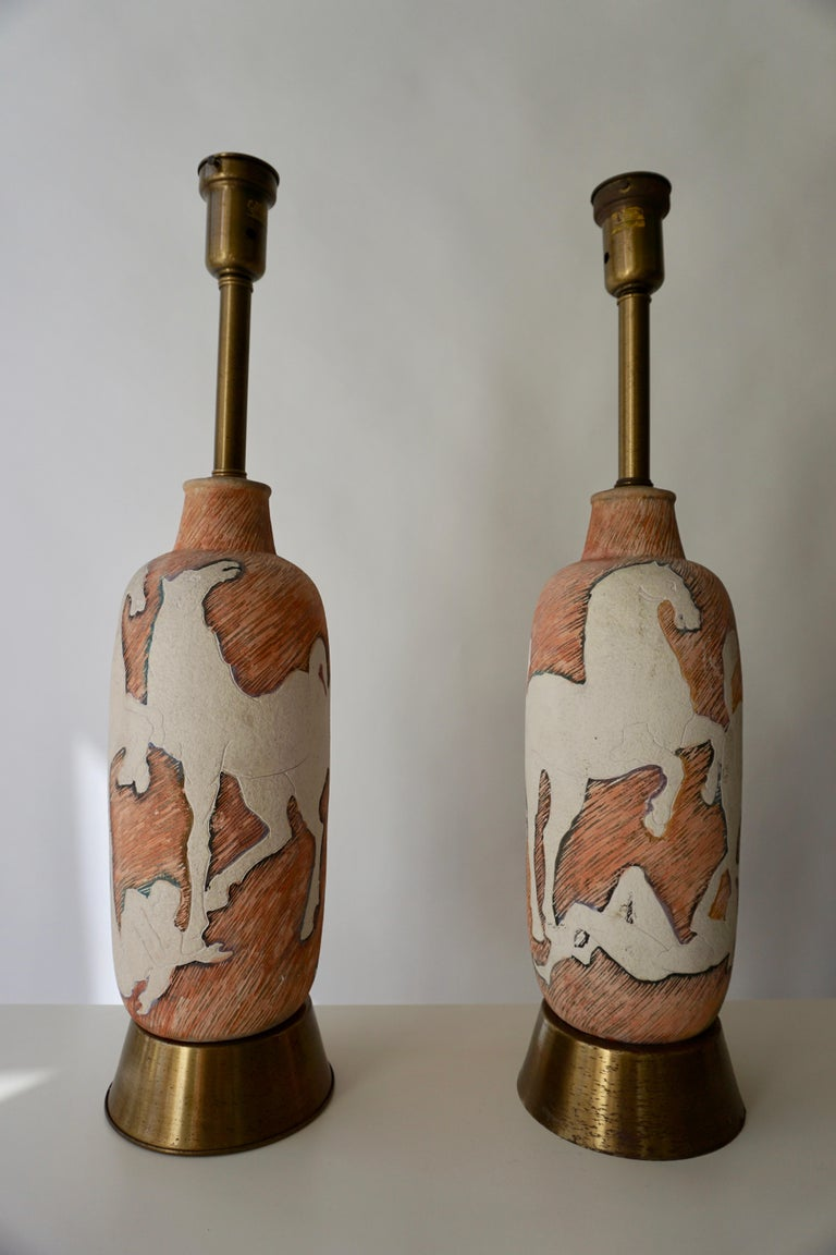 Marcello Fantoni Sculptural Ceramic Lamps, Italy For Sale 4