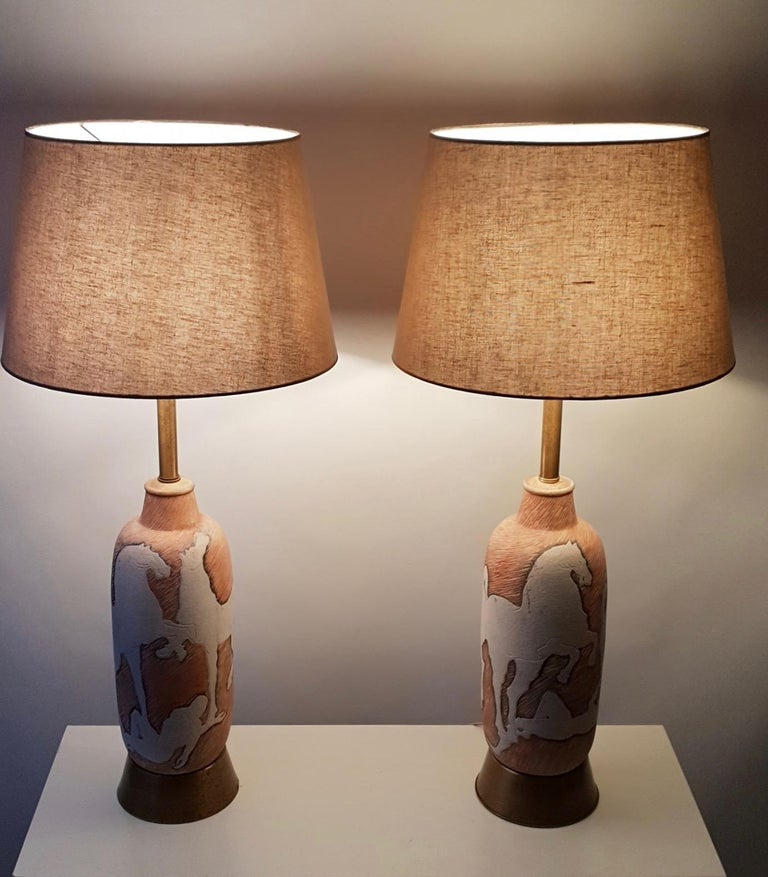 Marcello Fantoni Sculptural Ceramic Lamps, Italy In Good Condition For Sale In Antwerp, BE