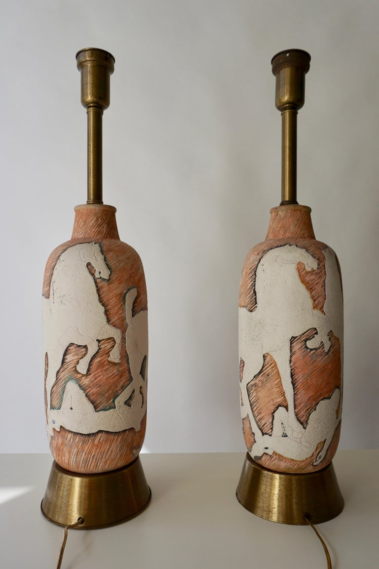 Marcello Fantoni Sculptural Ceramic Lamps, Italy For Sale 1