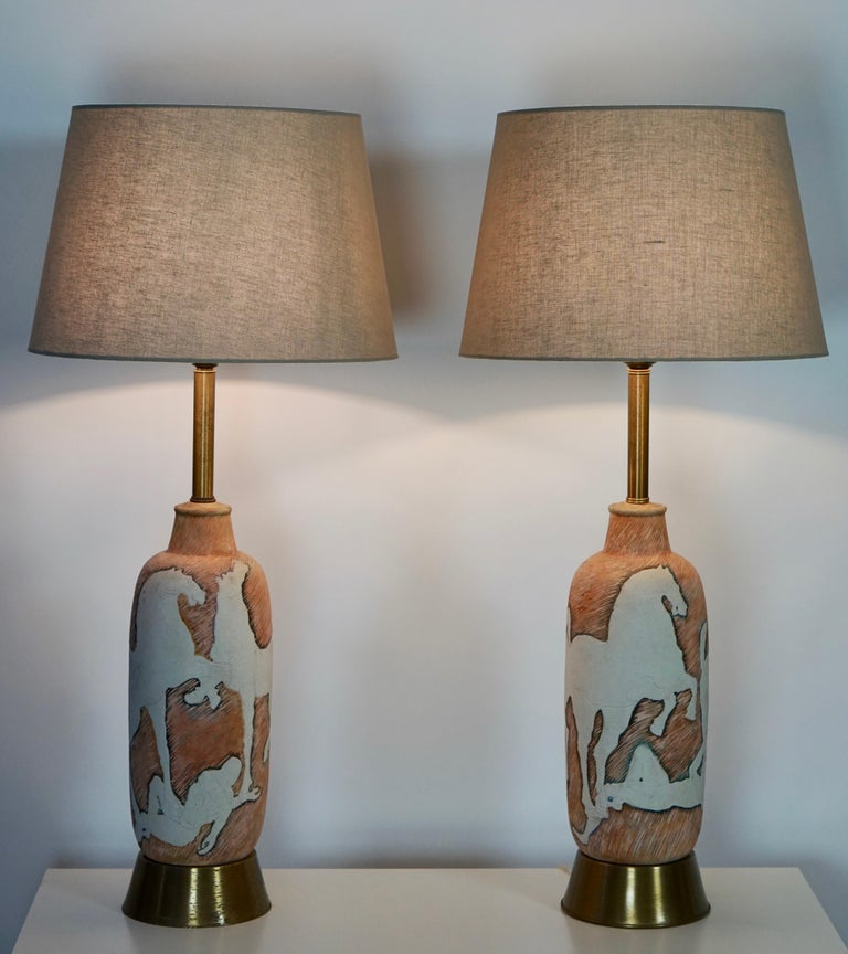 Marcello Fantoni Sculptural Ceramic Lamps, Italy For Sale 2
