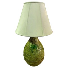 Marcello Fantoni Signed Midcentury Italian Raymor Glazed Ceramic Table Light